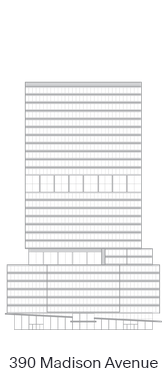 390 Madison Avenue landmark icon diagram - 222 Broadway