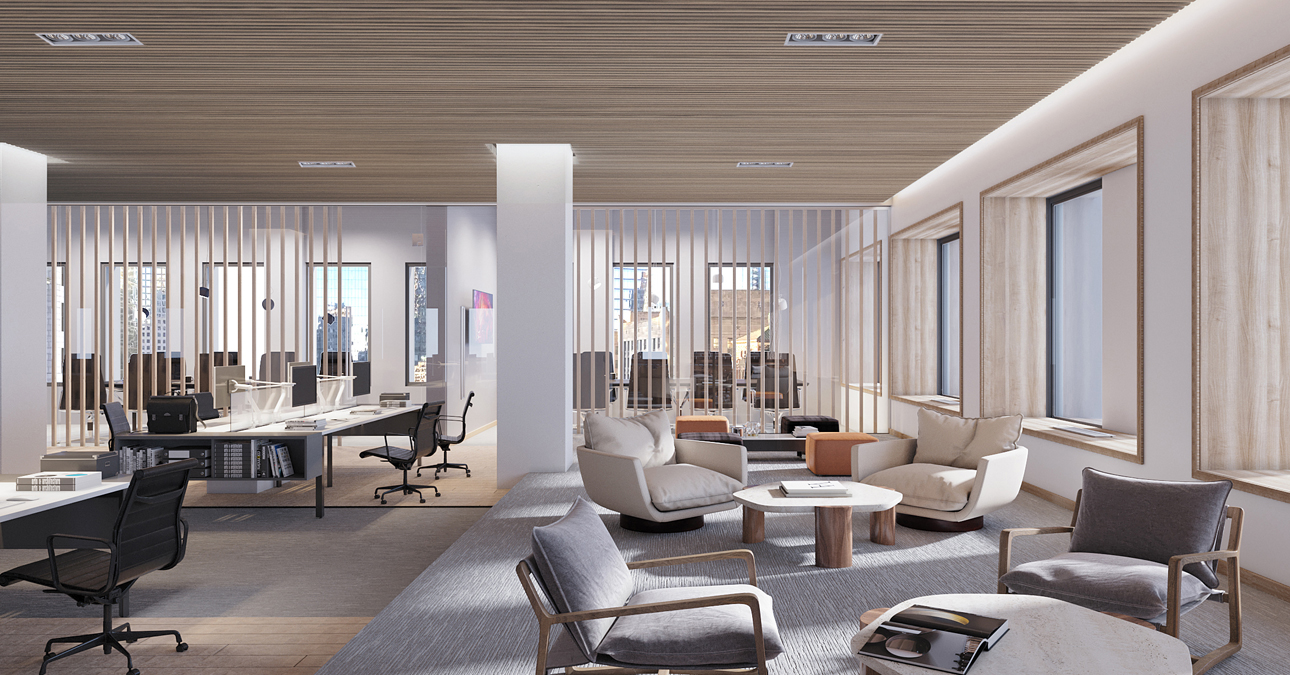 Bright, open workplace with private meeting rooms - 222 Broadway